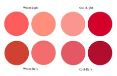 coral red - cool light for Light Summer
