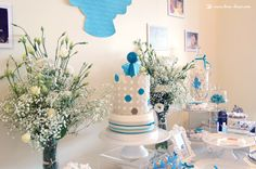 the cake for this angel themed baptism