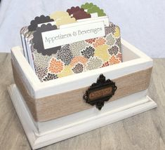 RECIPE BOX Recipe Dividers Recipe Cards Ivory by peachykeenday