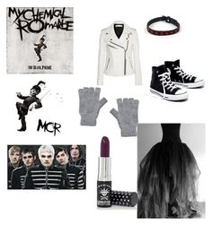 """""""the black parade"""" by uni-killer ❤ liked on Polyvore featuring Victoria, Victoria Beckham, Madewell, Manic Panic NYC and Johnstons of Elgin"""
