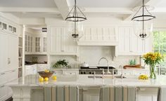 coffered ceiling in kitchen   beautiful white kitchen with coffered ceiling and ...   Kitchen Ideas