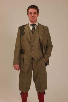 Mens Tweed Shooting Jacket - Egerton - Mens - Alexander James - English Country Clothing