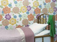 Behang retro XL muurprint Inke behangwinkel - Retro Baby Shop