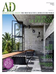 Tropical Modernism: Sri Lanka's Star Architect Palinda Kannangara's Colombo Home The Travel Issue: Holiday Homes by Loulou Van Damme and Marc Newso Indian Architecture, Amazing Architecture, Architecture Design, Ad Architectural Digest, Small Space Living, Living Spaces, India House, Architecture Concept Drawings, India Design