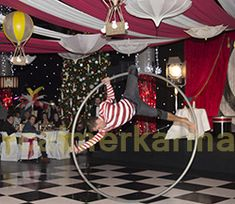 CIRCUS THEMED ENTERTAINMENT -  bespoke hand Painted acrobat performs after dinner in his big wheel at this THEATRICAL CIRCUS themed Corporate Party. Tel: 020 3602 9540  UK ENTERTAINMENT AGENCY spreading CIRCUS big top fun to everyone across MANCHESTER, CHESHIRE, BIRMINGHAM, BRISTOL, BRIGHTON & LONDON  Tel:  020 3602 9540 http://www.calmerkarma.org.uk/CIRCUS-THEMED-ENTERTAINMENT-BLOG.html