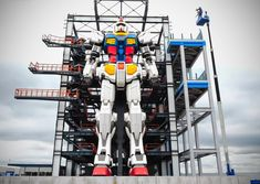 This 59-foot-tall Gundam is now complete...