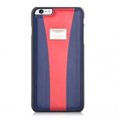 Aston Martin iPhone 6/6s Back Case Racing Strap Navy/Red