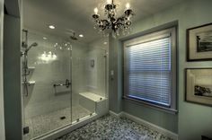Moss Building and Design - Huge shower with seat/handicap bar