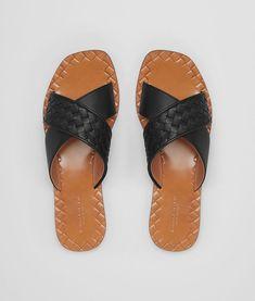 e897a29a4c0 BOTTEGA VENETA NERO INTRECCIATO NAPPA RAVELLO SANDAL Sandals Woman fp Bottega  Veneta