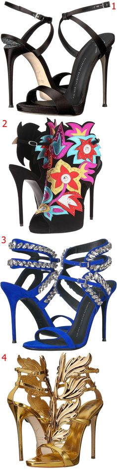 1, 2, 3, 4? Which of these stunning heels from Giuseppe Zanotti is your favorite?
