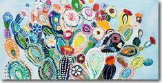 Anthropologie's 2014 Starla Michelle Fine Art collection. Art And Illustration, Illustrations, Painting Inspiration, Art Inspo, Yellena James, Desert Art, Cactus Art, Cactus Flower, Wow Art