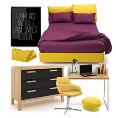 """Teenagers Room"" by monmondefou ❤ liked on Polyvore featuring interior, interiors, interior design, home, home decor, interior decorating, TemaHome, Arper, bedroom and Home"