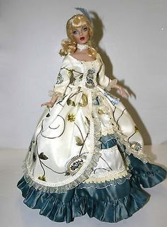 """Opulent Gown for 16"""" Curvaceous Body Dolls Tonner"""