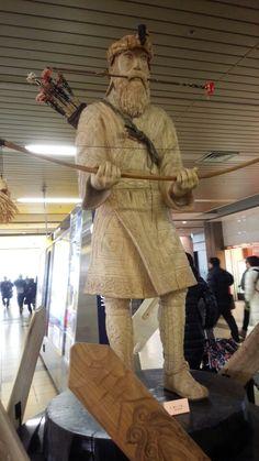 Sapporo, Hokaido, Japan. A statue of an Ainu elder.