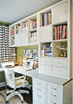 Office built in craft room