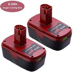 Amazing Offer On 2pack 6 0ah 19 2 Volt C3 Replacement Lithium Battery Craftsman Xcp 20v 130211004 11375 11045 130279005 315 11485 Online Thetophitsclothing In 2020 Lithium Battery Battery Shop Battery