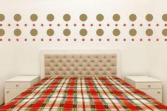 Retro Wall Decor Polka Dot Wall Decals by WallStarGraphics on Etsy