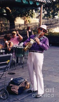 New Orleans Musician by John Malone with Pin-It-Button on FineArtAmerica