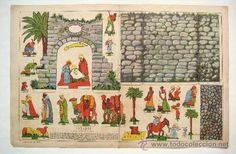 LAMINA RECORTABLE PESEBRE-BELEN DE NAVIDAD COLECCION BILLIKEN AÑOS 50