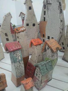 Raku ceramic houses
