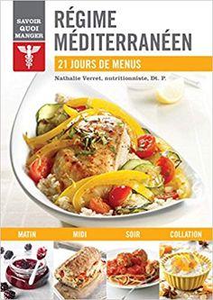 Mediterranean diet: 21 days of menus, book by nathalie verret Healthy Meal Prep, Healthy Snacks For Kids, Healthy Food, Healthy Recipe Videos, Healthy Recipes, Breakfast Lunch Dinner, Health Snacks, Vegan Breakfast Recipes, Mediterranean Diet