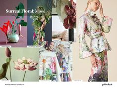 Vision 3: SS19 Print Trend Themes Abstract Landscape / Surreal Floral / Urban Scrawl