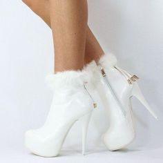 Trendy High Heels For Ladies : Ice ice baby! Hot High Heels, High Heel Boots, High Heel Pumps, Pumps Heels, Heeled Boots, Bootie Boots, Shoe Boots, Ankle Boots, Fur Boots