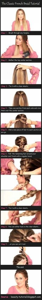 Learn how to do a French plat in my hair