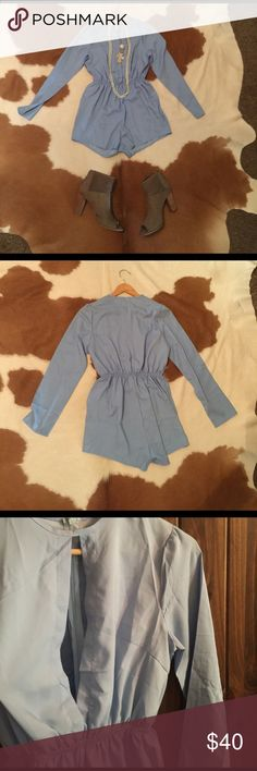 Baby Blue Romper Reposh, never worn NWOT, does not include jewelry or shoes Other
