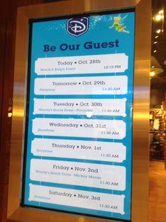 Disney's #digitalsignage message board #doohdas