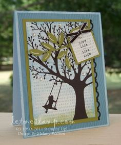 Beautiful layered card. Live the detail on the green leaves punch.