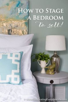 Don't over clutter a bedroom, simplicity is best; how to stage a bedroom. Home Staging Tips and Ideas – Improve the Value of Your Home on Frugal Coupon Living.
