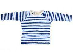 Blue Stripes Raglan Top