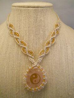 Natural Hemp Necklace w/ Hemp Wrapped Rose by PeaceLoveNKnottyHemp, $24.00