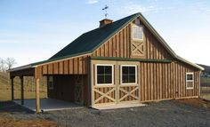 22x50 gable barn plans with shed roof lean to farm life for Hobby barn plans