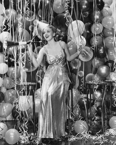 vintage New Year Celebration pin up