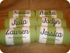 "Personalized Beach Towels - Many colors to choose from -  Bridesmaids Gift  - Embroider names and Bride and Groom's name and wedding date, with ""THANK YOU!"""