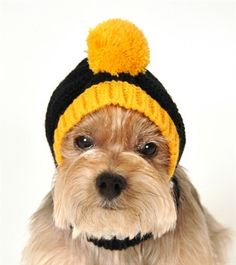 442b9a6ef Pittsburgh STEELERS NFL Official Licensed Team Crown Rib Knit Ski Hat for  Dogs in color Black. Daisey's Doggie Chic