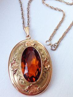 Huge Antique Edwardian Gold Filled Oval Locket by MemoryStation