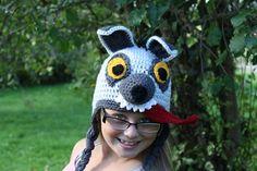 Crocheted Hyena Hat like in Lion King Ready to by chelseygoedecke, $29.50