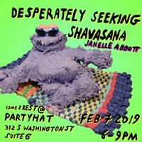 Closing Show: Desperately Seeking Shavasana by Janelle Abbott at Party Hat Her Interactive, First Thursdays, Events This Week, Davidson Galleries, Event Website, Art Walk, Cool Bars, Anniversary Parties, Buy Tickets