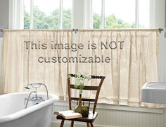 product image*Larger window with inset cafe curtains
