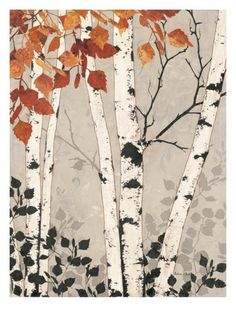 Tapestry Art Print by Melissa Pluch Birch Tapestry Giclee Print by Melissa Pluch at Art Encadrée, Birch Tree Art, Birch Trees Painting, Framed Art, Wall Art, Framed Canvas, Aspen Trees, Watercolor Trees, Watercolour