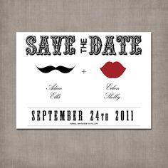 handmade wedding - save the date postcard
