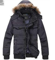 Thick Keep Warm Zipper With Hat Male Dark Grey Cotton Coat M/L/XL/XXL@SJ27928dg Mens Down Jacket, Keep Warm, Men's Clothing, Dark Grey, Canada Goose Jackets, Winter Jackets, Zipper, Hats, Cotton