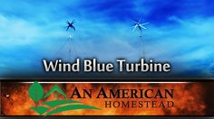 Wind Blue Turbine Installation