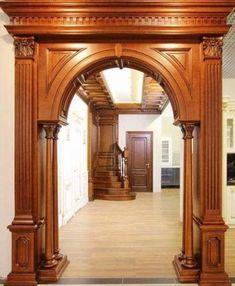 Trendy Ideas For Main Entrance Door Paneling House Arch Design, Room Door Design, Door Design Interior, Arched Doors, Entrance Doors, Panel Doors, Main Entrance Door Design, Wooden Arch, Wooden Doors