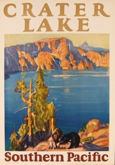 MAURICE LOGAN ILLUSTRATED SOUTHERN PACIFIC RR POSTER