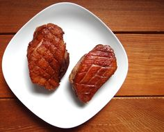 Easy Crispy Duck Breast Phoenix Helix - Once The Skin Looks Thin Golden And Crispy Turn The Duck Breasts Over And Cook Another Minutes Remove From Pan And Allow To Rest Minutes Then Carve Into Diagonal Slices Save The Rendered Fat Crispy Duck Breast Recipe, Roasted Duck Breast, Duck Recipes, Paleo Recipes, Real Food Recipes, Turkey Recipes, My Favorite Food, Favorite Recipes, Almond Chicken