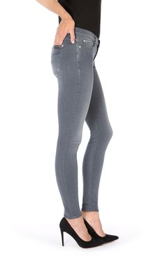 7 for all mankind THE SKINNY SLIM ILLUSION LUXE DARK GREY